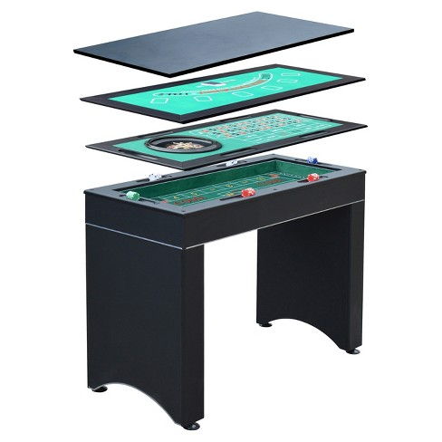 Hathaway Monte Carlo 4-in-1 Casino Game Table - image 1 of 14