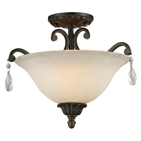 Semi Flush Mount Ceiling Lights with White Mottle Glass (Set of 3) - Z-Lite - image 1 of 1