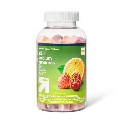 Calcium Gummies - Orange, Strawberry & Cherry - 100ct - up & up™