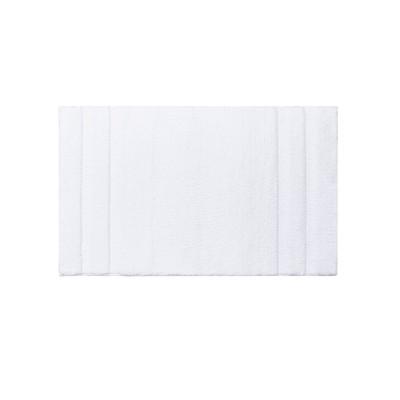 24 x40  Stria Border Stripe Marshmellow Bath Rug White