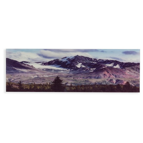 Snow Covered Fall Mountains in Colorado Glass Wall Art  - Aiden Lane - image 1 of 6