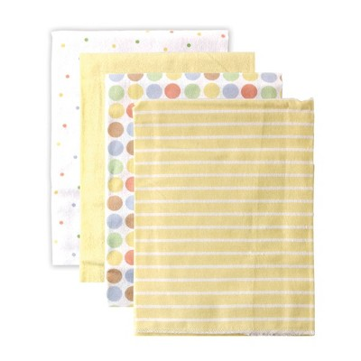 Luvable Friends Unisex Baby Cotton Flannel Receiving Blanket - Yellow One Size