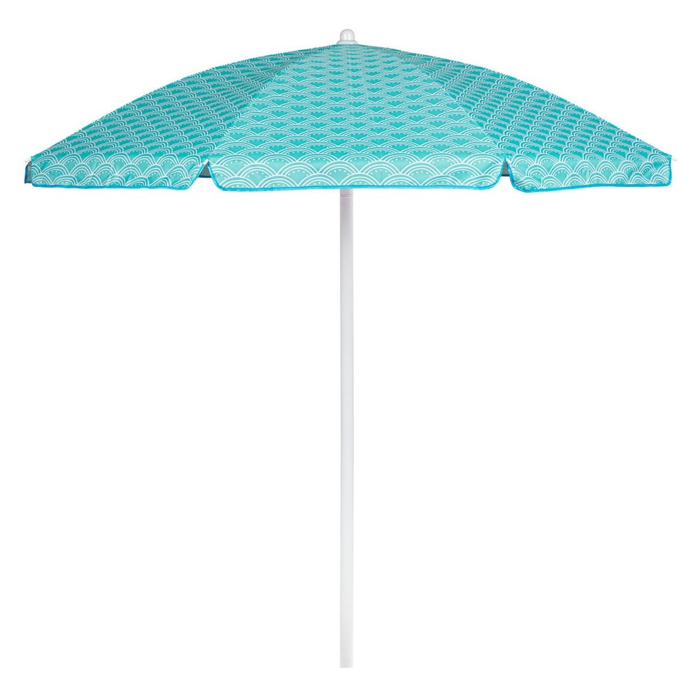 Picnic Time 5 5 39 Mermaid Beach Umbrella Teal