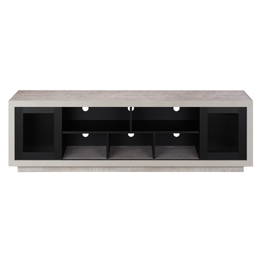 Iohomes Valla Industrial Tv Stand 70 Black - Homes: Inside + Out