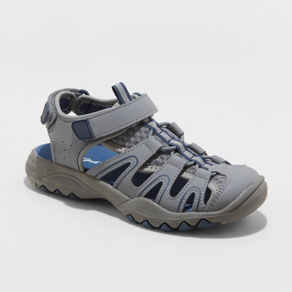 Image of Boys' Juno Footbed Sandals - Cat & Jack Navy 13, Toddler Boy's, Blue