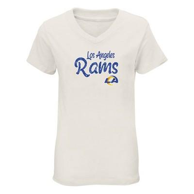 NFL Los Angeles Rams Girls' Short Sleeve V-Neck Core T-Shirt