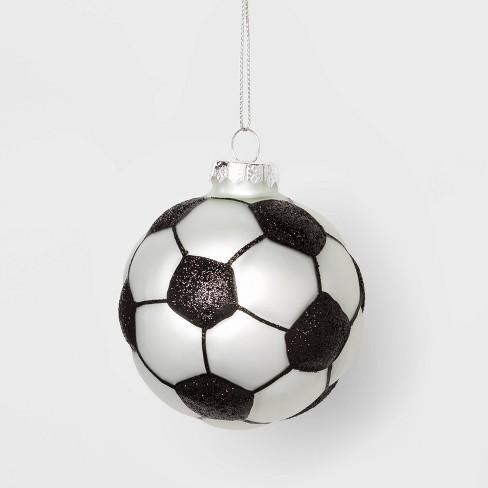 Soccer Ball Glass Christmas Ornament - Wondershop™ - image 1 of 2