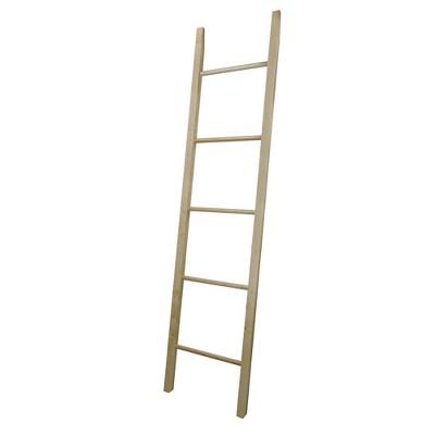 Blanket Storage Decorative Ladder Natural Maple - Flora Home