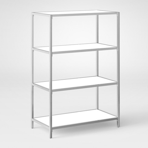 Ronchamp 44 High Gloss And Chrome Low Bookcase White Project 62 Target