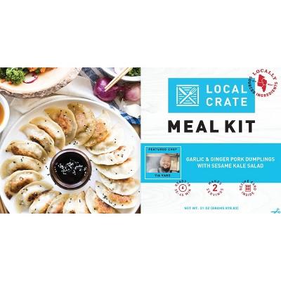 Local Crate Chef Yia Vang Pork Dumplings with Kale Salad Meal Kit - Serves 2 - 31oz