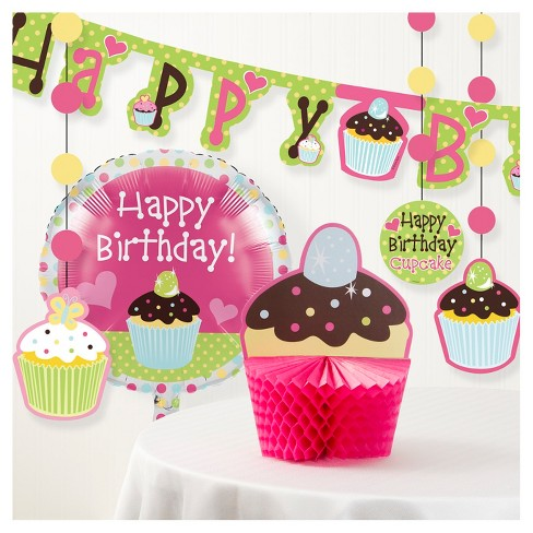 Sweet Treat Cupcake Birthday Party Decorations Kit - image 1 of 1