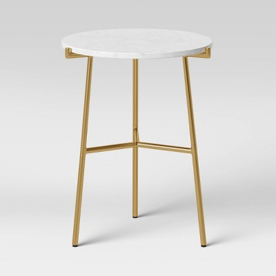 Rosedale Round Marble End Table White - Project 62™