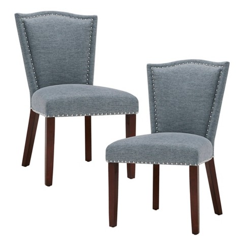Set of 2 Dining Chairs Blue - image 1 of 6