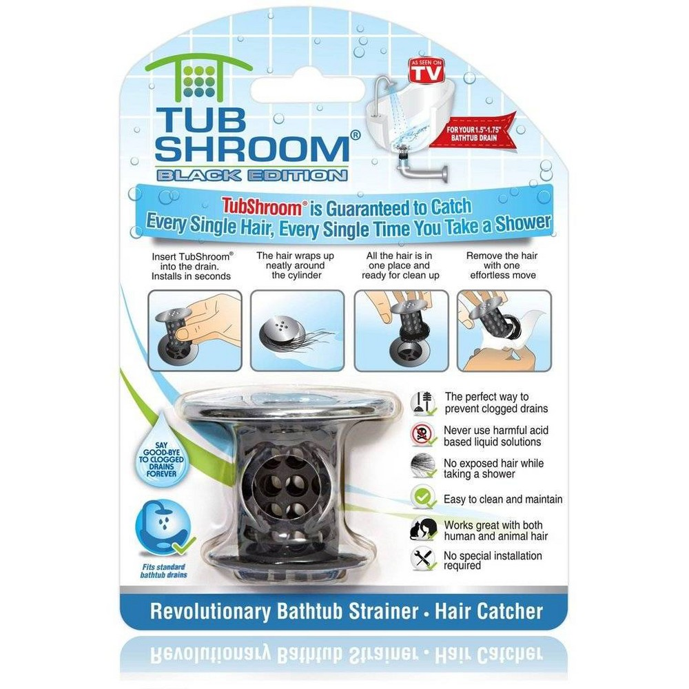 Image of As Seen on TV TubShroom Drain Protector Black