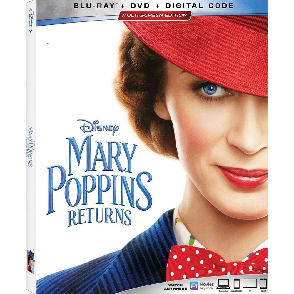 Mary Poppins Returns (Blu Ray + Dvd + Digital)