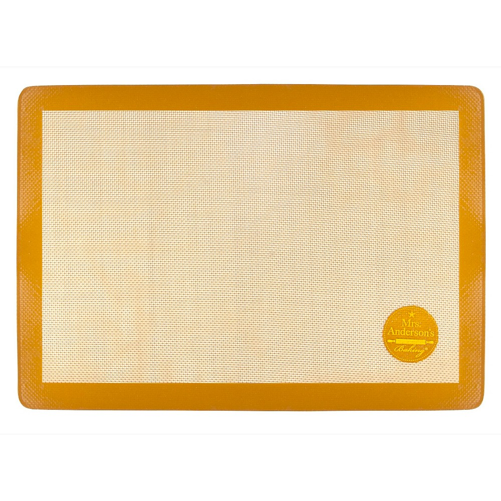 "Image of ""Mrs. Anderson's Non-Stick Silicone U.S. Half Size Baking Mat - 11"""" x 16.5"""", Brown"""