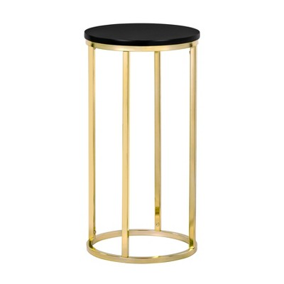 Ellias Round Side Table Black/Gold - Finch