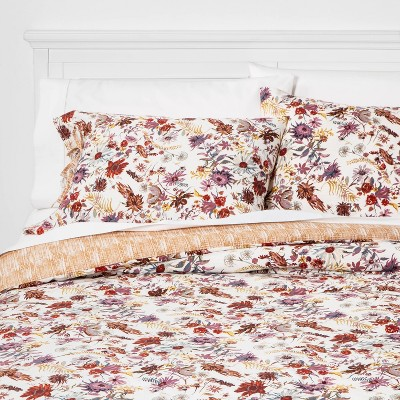 King Prairie Floral Print Comforter & Sham Set Cream - Threshold™