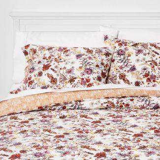 Full/Queen Prairie Floral Print Comforter & Sham Set Cream - Threshold™