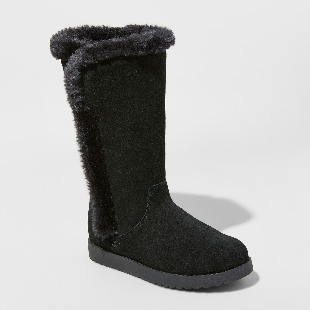 Women's Daniela Suede Winter Tall Boots - Universal Thread Black 12