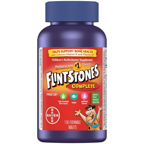 Flintstones Children's Complete Multivitamin Chewable Tablets - Fruit Flavors - 150ct - image 1 of 4