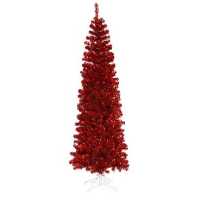 Vickerman Red Pencil Tabletop Artificial Tree