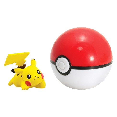 Pokemon Clip 'N' Carry Poke Ball with Figure Pikachu (Pose L) and Pok Ball - image 1 of 2