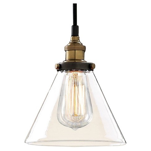 Warehouse Of Tiffany 10 X 10 X 13 Inch Clear Black Ceiling Lights - image 1 of 1