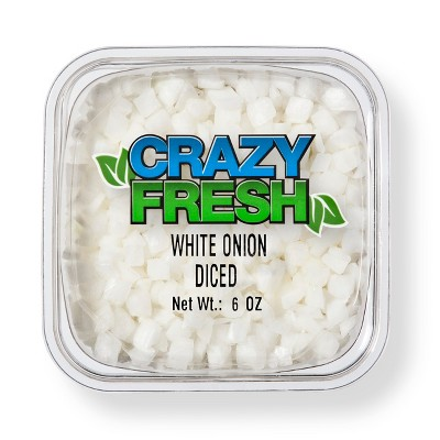 White Onions Diced - 6oz