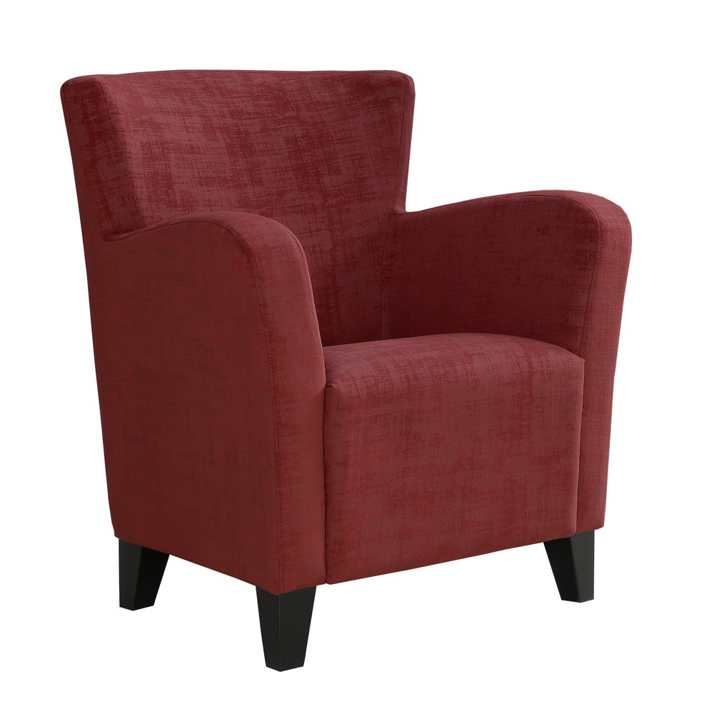 Accent Chair Brushed Velvet Fabric Red - EveryRoom