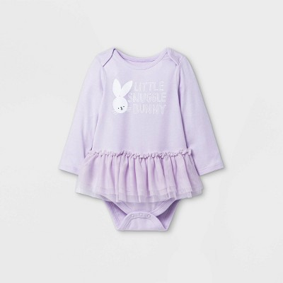 Baby Girls' Easter Long Sleeve Bodysuit - Cat & Jack™ Violet