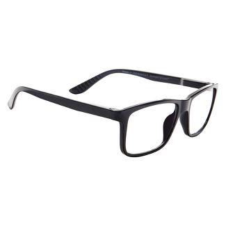 ICU Eyewear Screen Vision Blue Light Filtering Rectangle Black Large Glasses