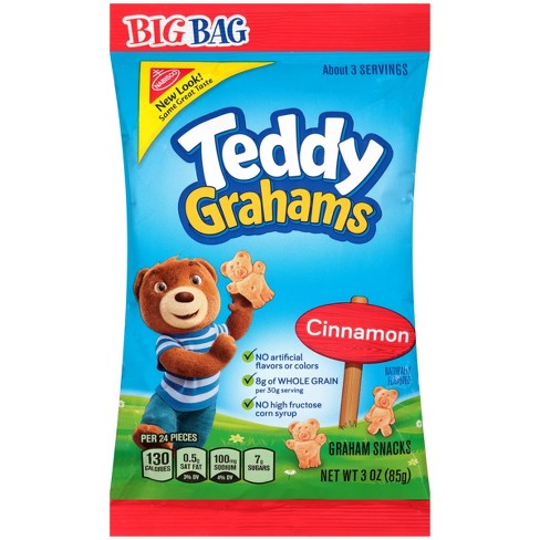 Teddy Grahams Cinnamon Graham Snacks Big Bag - 3oz - image 1 of 3