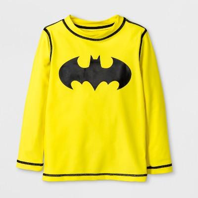 Toddler Boys' DC Comics Batman Rash Guard - Yellow 2T