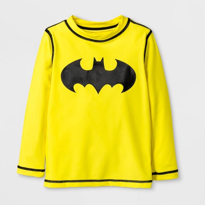 Toddler Boys' DC Comics Batman Rash Guard - Yellow - image 1 of 1
