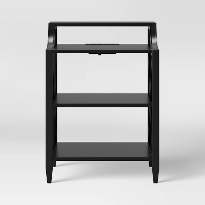 Fairmont Metal Nightstand with Charging Black - Threshold™