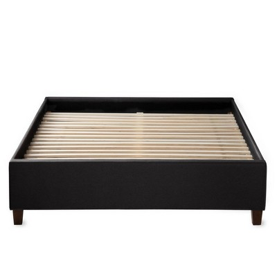 Ava Upholstered Platform Bed with Slats - Brookside Home