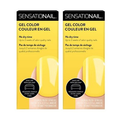 SensatioNail Gel Nail Polish - Beat the Heat - 2pk - 0.25 fl oz
