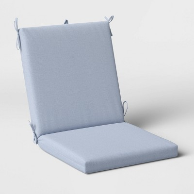 Woven Outdoor Chair Cushion DuraSeason Fabric™ Chambray - Threshold™