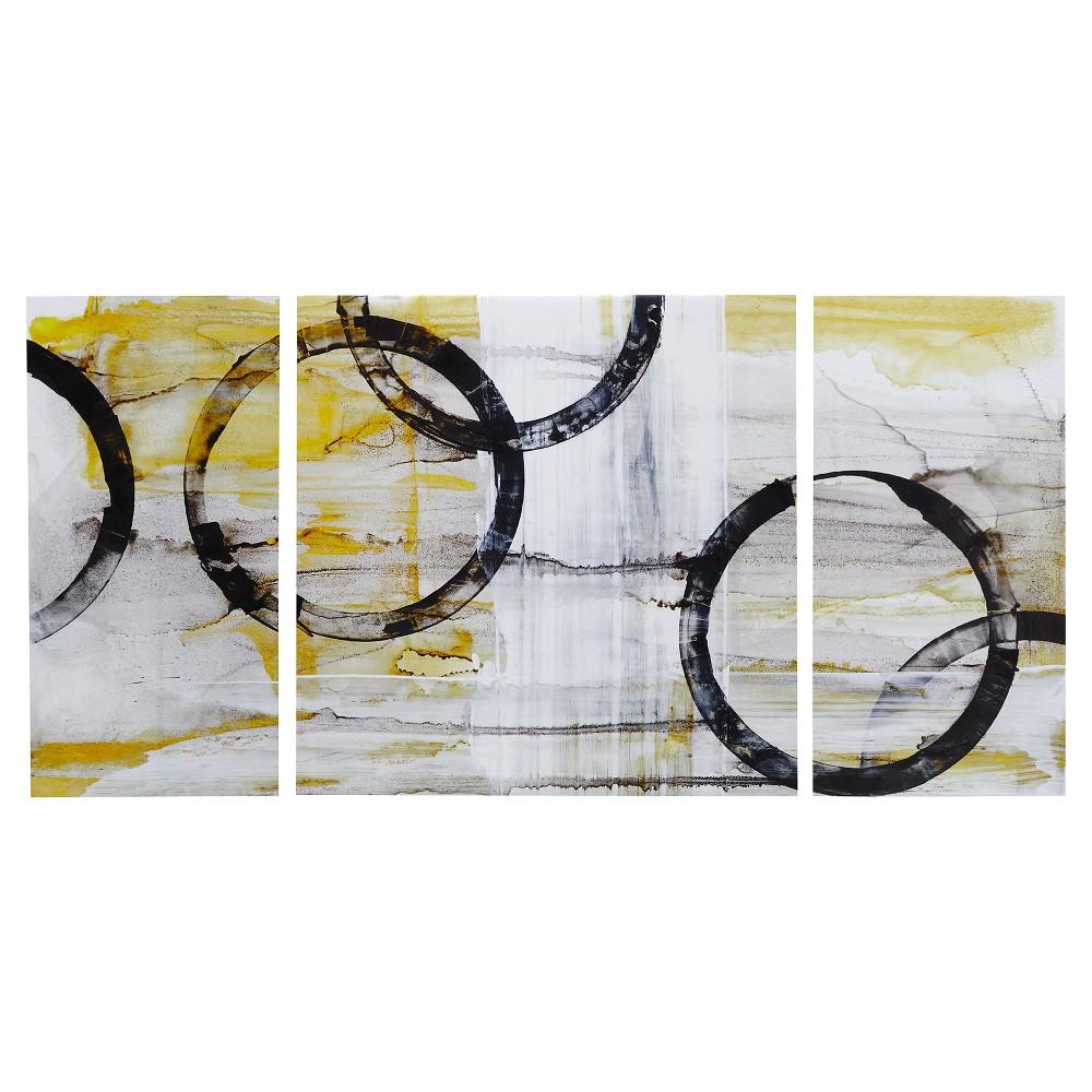 Lunar Glow Gel Coated Canvas 3 Piece Set, Yellow