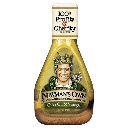 Newman's Own® Olive Oil & Vinegar Dressing - 16 fl oz - image 1 of 1