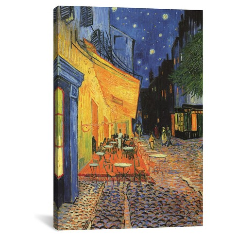 The Cafe Terrace on the Place du Forum (Café Terrace at Night) 1888 by Vincent Van Gogh Canvas Print - image 1 of 2
