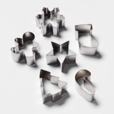 6pk Stainless Steel Mini Cookie Cutter Set - Wondershop™