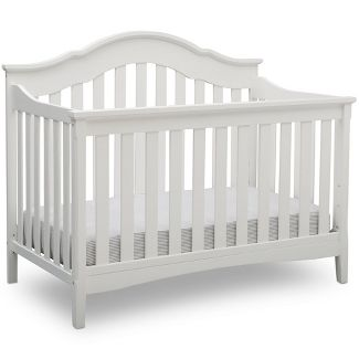 Delta Children Farmhouse 6-in-1 Convertible Crib - Textured White