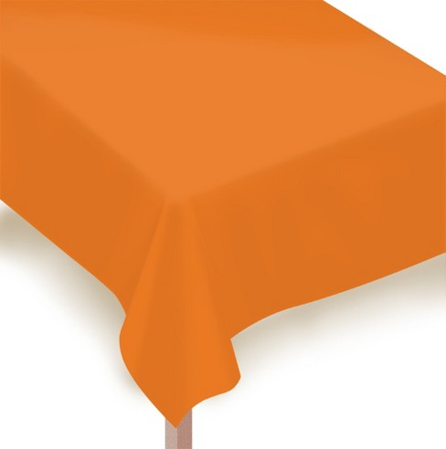 "54""x108"" 2ct Disposable Tablecover Orange - Spritz™ - image 1 of 1"