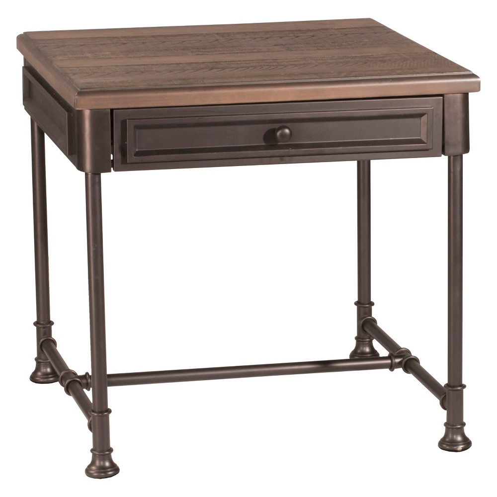 Casselberry End Table Distressed Walnut/Brown - Hillsdale Furniture