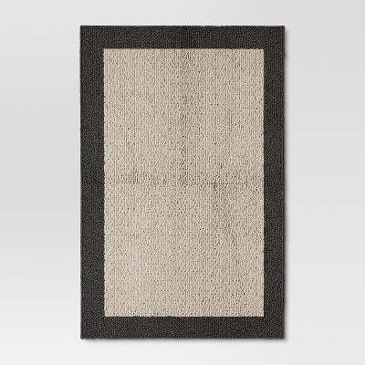 "2'6""X3'10"" Madison Border Rug Gray - Threshold™"