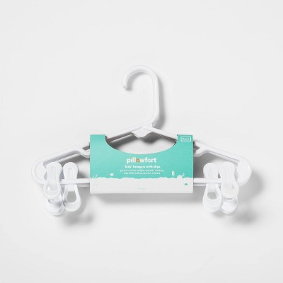 3 pk White Kids Hanger With Clips - Pillowfort™