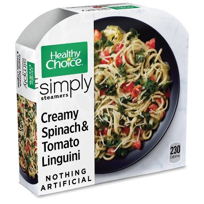 Healthy Choice Simply Organic Frozen Creamy Spinach and Tomato Linguini - 9.5oz