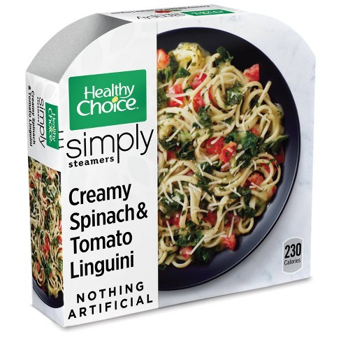 Healthy Choice Vegetarian Frozen Simply Organic Creamy Spinach and Tomato Linguini - 9oz - image 1 of 3